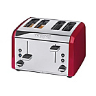 Waring 4 Slice Stainless Steel Toaster - Red