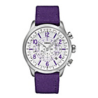more details on Versus Versace Men's Purple White Dial Soho Watch.