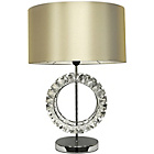 more details on Litecraft Orb Cut Glass Table Lamp - Chrome.