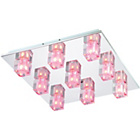 more details on Litecraft Ice 9 Light LED Ceiling Light - Colour Changing.