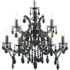more details on Litecraft Moscow 9 Light Chandelier - Black.