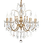 more details on Litecraft Naples 5 Light Chandelier - Gold.