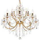 more details on Litecraft Naples 12 Light Chandelier - Gold.