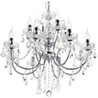more details on Litecraft Naples 12 Light Chandelier - Chrome.