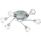 more details on Litecraft Crystal Flush Ceiling Light - Chrome.