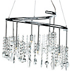 more details on Litecraft Othello 9 Light Pendant Light - Chrome.