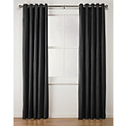 more details on Collection Suedette Lined Eyelet Curtains-168x183cm - Black.