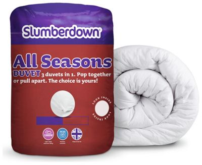 Buy Slumberdown All Seasons 9 4 5 Tog 3 In 1 Duvet