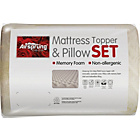 more details on Airsprung Memory Mattress Topper & Pillow Set - Kingsize.