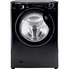 more details on Candy GC41472D1B Black Washing Machine - Install/Del/Rec.