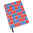 more details on Stamp Collection A5 Hardback Notebook - Red and Blue.