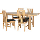 more details on Collection Franklin Ext Dining Table & 4 Chairs - Oak/ Black