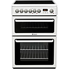 more details on Hotpoint HAE60PS Double Electric Cooker - White.