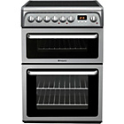 more details on Hotpoint HAE60GS Double Electric Cooker - Grey.