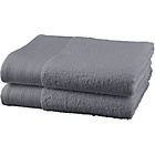 more details on ColourMatch Pair of Bath Towels - Flint Grey.
