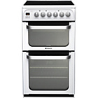 more details on Hotpoint HUE52PS Double Electric Cooker - White.