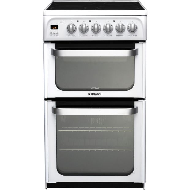 Buy hotpoint hue52ps double electric cooker white at for Kitchen set argos
