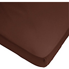 more details on ColourMatch Chocolate Fitted Sheet - Double.