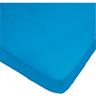 more details on ColourMatch Fiesta Blue Polycotton Fitted Sheet - Double.