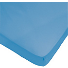 more details on ColourMatch Ocean Blue Polycotton Fitted Sheet - Double.