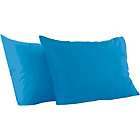 more details on ColourMatch Fiesta Blue Housewife Pillowcase - 2 Pack.