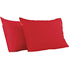 more details on ColourMatch Poppy Red Housewife Pillowcase - 2 Pack.