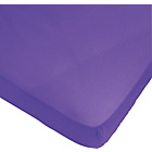 more details on ColourMatch True Purple Polycotton Fitted Sheet - Single.