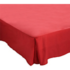 more details on ColourMatch Red Polycotton Valance Sheet - Double.