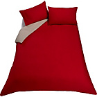 more details on ColourMatch Poppy Red and Cream Bedding Set - Double.