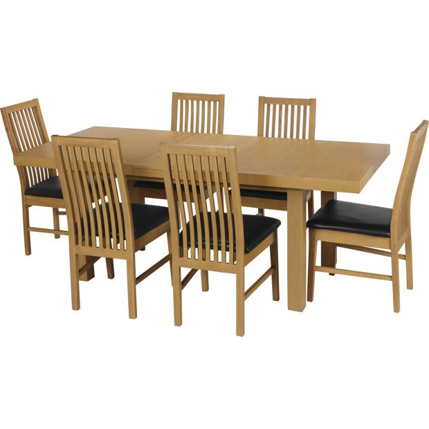 Buy Dining Table And Chairs Online: Buy Collection Franklin Ext Dining Table & 6 Chairs