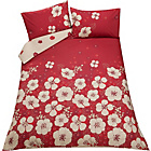 more details on HOME Tia Red Bedding Set - Kingsize.