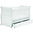 more details on East Coast Alaska Sleigh Cot Bed - White.