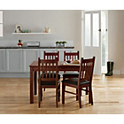 more details on Cucina Walnut Veneer Dining Table and 4 Chairs.