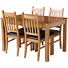 more details on Cucina Oak Veneer Dining Table and 4 Chairs.