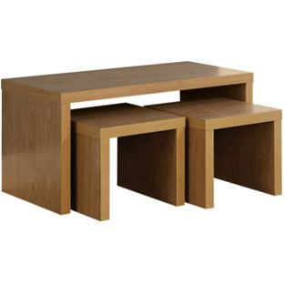 Chicago Long John Coffee Table - Oak, width 85cm