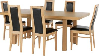 Vegas Oak Effect Dining Table And 2 Chairs