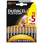 more details on Duracell Plus Power AAA Alkaline Batteries 15 + 5 Free.