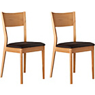more details on Emmett Pair of Wooden Dining Chairs.