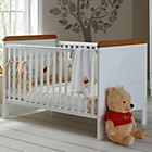 more details on Winnie the Pooh Deluxe Cot Bed - White with Pine Trim.