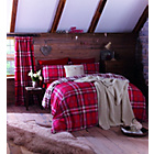 more details on Catherine Lansfield Red Kelso Duvet Cover Set - Kingsize.