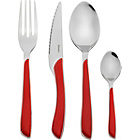 more details on Amefa Eclat 24 Piece Cutlery Set - Red.