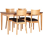 more details on Emmett Oak Dining Table and 4 Wooden Chairs.