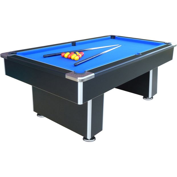 Buy mightymast speedster 7ft slate bed pool table black for 1 inch slate pool table