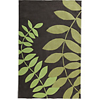 more details on Leaves Rug 230x160cm - Green and Grey.