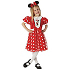 more details on Rubies Red Minnie Mouse Glitz Dress Up Outfit - 3-4 Years.