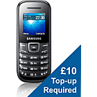 more details on Vodafone Samsung E1200 Mobile Phone - Black.