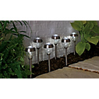 more details on Stainless Steel Solar Crown Twin Lights - Set of 6.