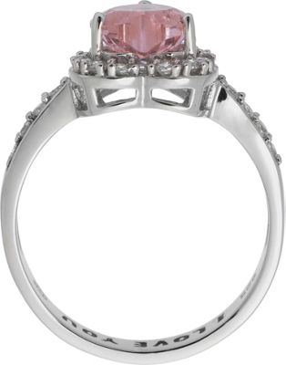 buy sterling silver pink cubic zirconia i you ring