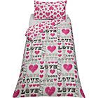 more details on Love Pink Children's Bedding Set - Single.
