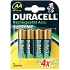 more details on Duracell Supreme Rechargeable 2450 mAh AA Batteries-4 Pack.